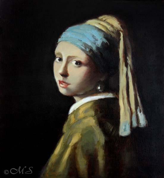 Margret Short's Girl - based on Johannes Vermeer's Girl with the Pearl Earring