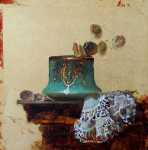 Counterpoint Modello 6x6 inches, Oil on Gold Leaf © Margret E. Short, OPA, AWAM