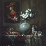 Flowers for Saskia oil painting by Margret Short