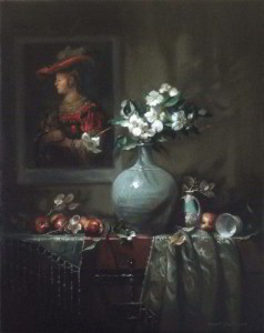Flowers for Saskia 28x22 inches, Oil on Linen © Margret E. Short, OPA, AWAM