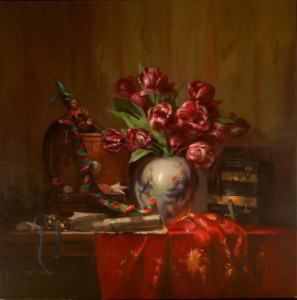 Gallimaufry 36x36 inches, Oil on Linen  © Margret E. Short, OPA, AWAM