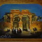 Kom Ombo 8x10 inches Oil On Linen © Margret E. Short,  OPA, AWAM
