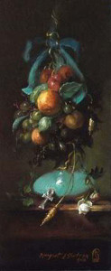 Nefertiti's Garland 12x5 inches, Oil on Linen © Margret E. Short, OPA, AWAM
