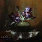 Osiris Iris 12x12 inches Oil On Linen © Margret E. Short,  OPA, AWAM