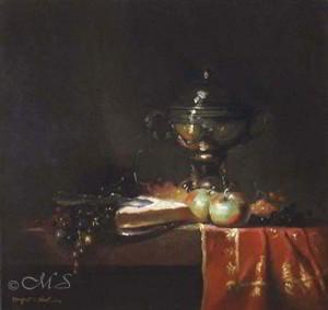 Rosso & Verde 17x18 inches, Oil on Linen © Margret E. Short, OPA, AWAM