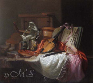 Pizzicata Oil on Linen, 17x19 inches