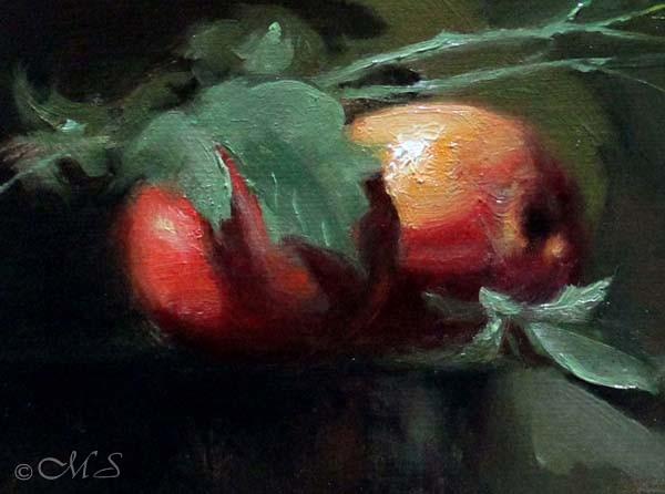 Detail of Margret Short Still life oil painting