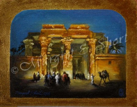 Kom Ombo 8x10 inches, Oil on Gold Leaf © Margret E. Short, OPA, AWAM