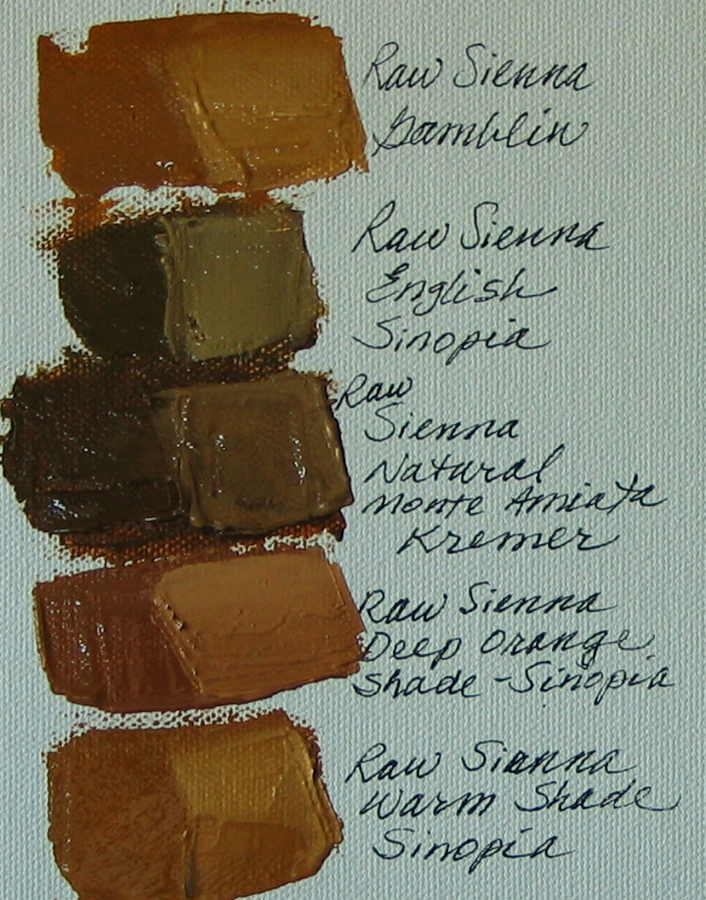 Raw Sienna Review Margret E Short Fine Arts
