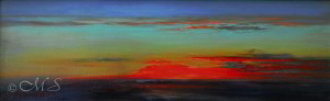 After the Rain 9x28 inches, Oil on Linen © Margret E. Short, OPA, AWAM