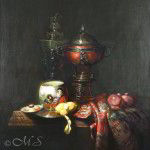 Cupbearer's Habiliments 30x26 inches Oil on Linen © Margret E. Short,  OPA, AWAM