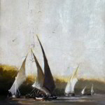 Felucca Study No. 2 7x5 inches Oil on Silver Leaf © Margret E. Short,  OPA, AWAM