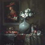 Flowers for Saskia oil painting by Margret Short
