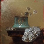 All That Glitters – Oil on Gold Leaf