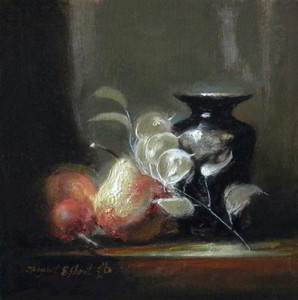 Medley Modello 6x6, Oil on Silver Leaf © Margret E. Short, OPA, AWAM