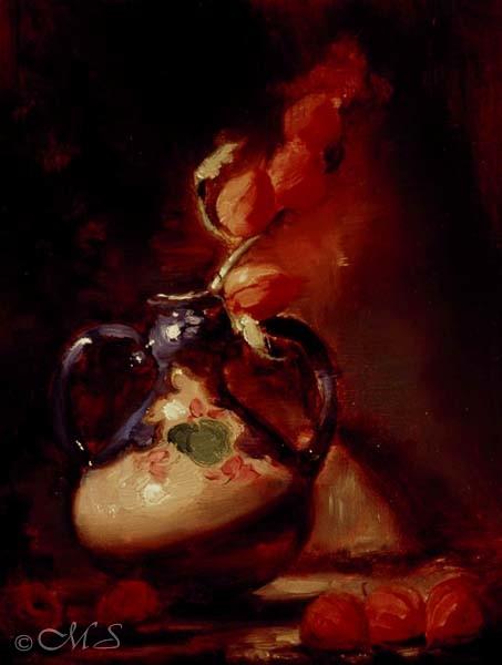Jar with Chinese Lanterns 12x9 Copyright Margret E. Short