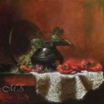 Offerings to the Spider Woman 13x15 inches, Oil on Linen  © Margret E. Short, OPA, AWAM