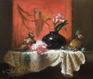Spider Woman's Wedding 23x27 inches, Oil on Linen © Margret E. Short, OPA, AWAM