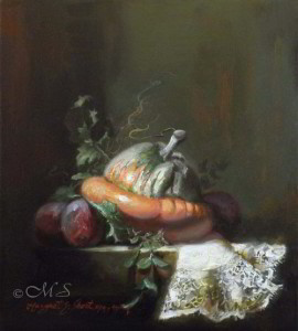 Sweet and Lowdown 10x9 inches, Oil on Linen © Margret E. Short, OPA, AWAM