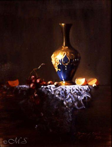 Venetian Glass and Tangerines 20x16 Copyright Margret E. Short