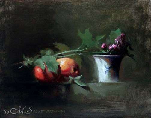 Finished still life oil painting by Margret Short